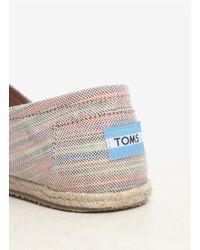 TOMS | Beige Classics Baxter Woven-stripe Slip-ons | Lyst