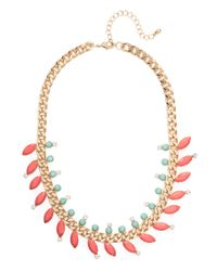 BaubleBar - Pink Coral Marquise Laurel Collar - Lyst