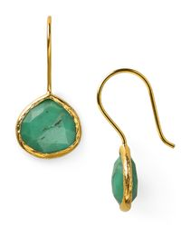 Coralia Leets | Green Chrysoprase Mini French Wire Earrings | Lyst