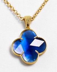 Coralia Leets - Cobalt Blue Doublet Lucky Charm Necklace 17 - Lyst