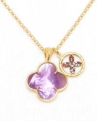 Coralia Leets | Metallic Purple Doublet Lucky Charm Necklace 17 | Lyst