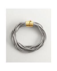Elizabeth and James - Metallic Sterling Silver and Gold Meadow Lark Snake Chain Bracelet - Lyst