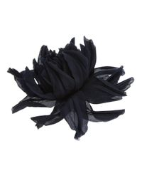 Erika Cavallini Semi Couture - Black Chrysanthemum Flower Brooch - Lyst