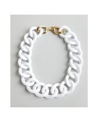 Kenneth Jay Lane | White Acrylic Link Necklace | Lyst