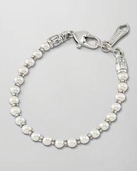 Lagos - White Kinder Sterling Silver Pearl Bracelet - Lyst
