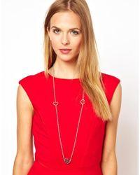 L.K.Bennett | Metallic Multi Charm Necklace | Lyst