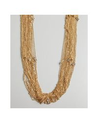 R.j. Graziano - Metallic Gold Tiered Multi Chain and Crystal Necklace - Lyst