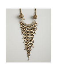 Vanessa Mooney | Metallic Gold and Bamboo Beaded Bandina Tassel Necklace | Lyst