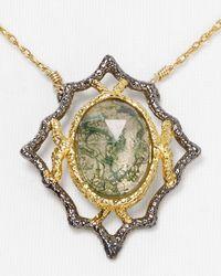 Alexis Bittar   Metallic Jardin De Papillon Lace Moss Agate Doublet Pendant Necklace 15   Lyst