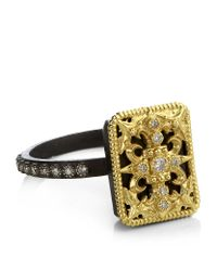 Armenta - Metallic Diamond Tapestry Ring - Lyst