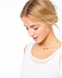 ASOS | Metallic Love Letter Charm Necklace | Lyst