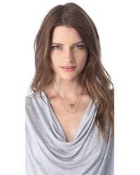 Jennifer Zeuner - Metallic Art Deco Love Necklace - Lyst