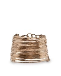 Mango - Metallic Touch Snake Chains Bracelet - Lyst