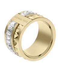 Michael Kors | Metallic Pyramidbaguette Ring Golden | Lyst