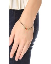 Petite Grand - Metallic Cord Chain Wrap Bracelet - Lyst