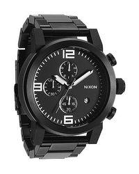 Nixon | Black 'the 51-30 Chrono' Watch for Men | Lyst