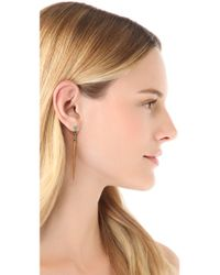 A Peace Treaty - Metallic Dzil Long Spike Drop Earrings - Lyst
