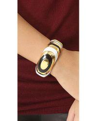 Kenneth Jay Lane   White Enamel Cuff Bracelet   Lyst