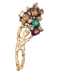 Marni | Metallic Gem Encrusted Brooch | Lyst