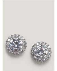 CZ by Kenneth Jay Lane | Metallic Pavé Crystal Trim Earrings | Lyst