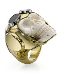 Theo Fennell | White Lost Flyer Skull Ring | Lyst
