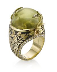 Theo Fennell | Green Beryl Rainforest Opening Ring | Lyst