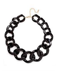 BaubleBar - Black Onyx Chunky Chain Collar - Lyst