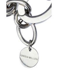 Karen Millen   Metallic Custom Chain Bracelet   Lyst