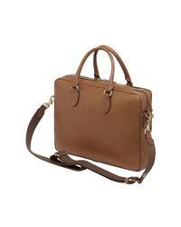 Mulberry - Brown Heathcliffe Leather Briefcase for Men - Lyst
