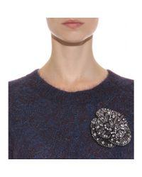 Schumacher - Metallic Beauty Crystal-embellished Brooch - Lyst