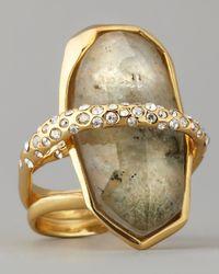 Alexis Bittar - Green Orbiting Labradorite Ring - Lyst