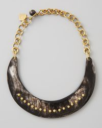 Ashley Pittman | Black Kaba Collar Necklace Dark Horn | Lyst