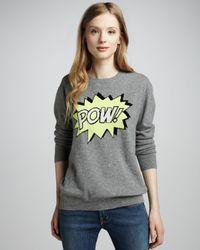 Autumn Cashmere - Gray Powintarsia Boyfriend Cashmere Sweater - Lyst