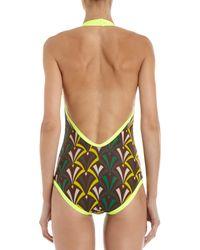Bantu - Brown Scoop Back Swimsuit - Lyst
