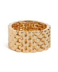 BaubleBar | Metallic Gold Basket Cuff | Lyst