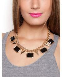 BaubleBar - Metallic Onyx Gem Frame Collar - Lyst