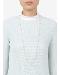 CZ by Kenneth Jay Lane | Metallic Cubic Zirconia Stationed Long Necklace | Lyst