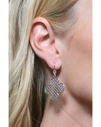 Jessica Elliot | White Large Clover Earrings | Lyst
