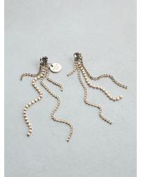 Patrizia Pepe | Metallic Junk Jewellery Earrings | Lyst