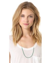 Shashi - Green Chelsea Necklace - Lyst
