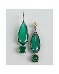 Amrapali - Green Onyx and Diamond Drop Earrings - Lyst