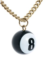 ASOS | Metallic Necklace with 8 Ball for Men | Lyst