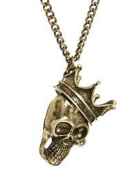 Simon Carter - Metallic Asos Necklace with Skull Crown for Men - Lyst