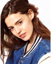 G-Star RAW - Multicolor Asos Filigree Stone Earrings - Lyst