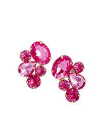ASOS - Pink Party Jewel Earrings - Lyst