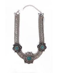 AKIRA - Metallic Gemstone Chain Set - Lyst