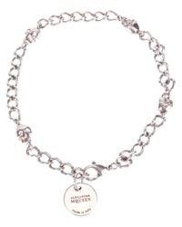 Alexander McQueen   Metallic Skull Chain Wrap Bracelet   Lyst