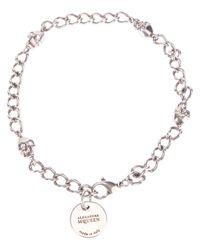 Alexander McQueen | Metallic Skull Chain Wrap Bracelet | Lyst