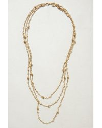 Anthropologie - White Layered Cabochon Necklace - Lyst