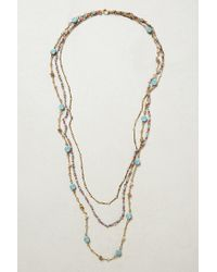 Anthropologie | Metallic Layered Cabochon Necklace | Lyst